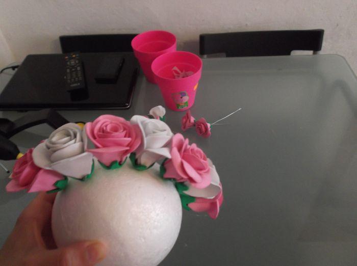 Tutorial topiario de rosas de goma eva - Manualidades - Foro Bodas.net
