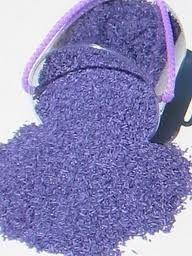 arroz teñido lila